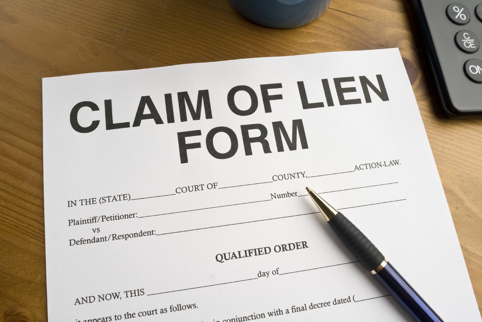 lien form